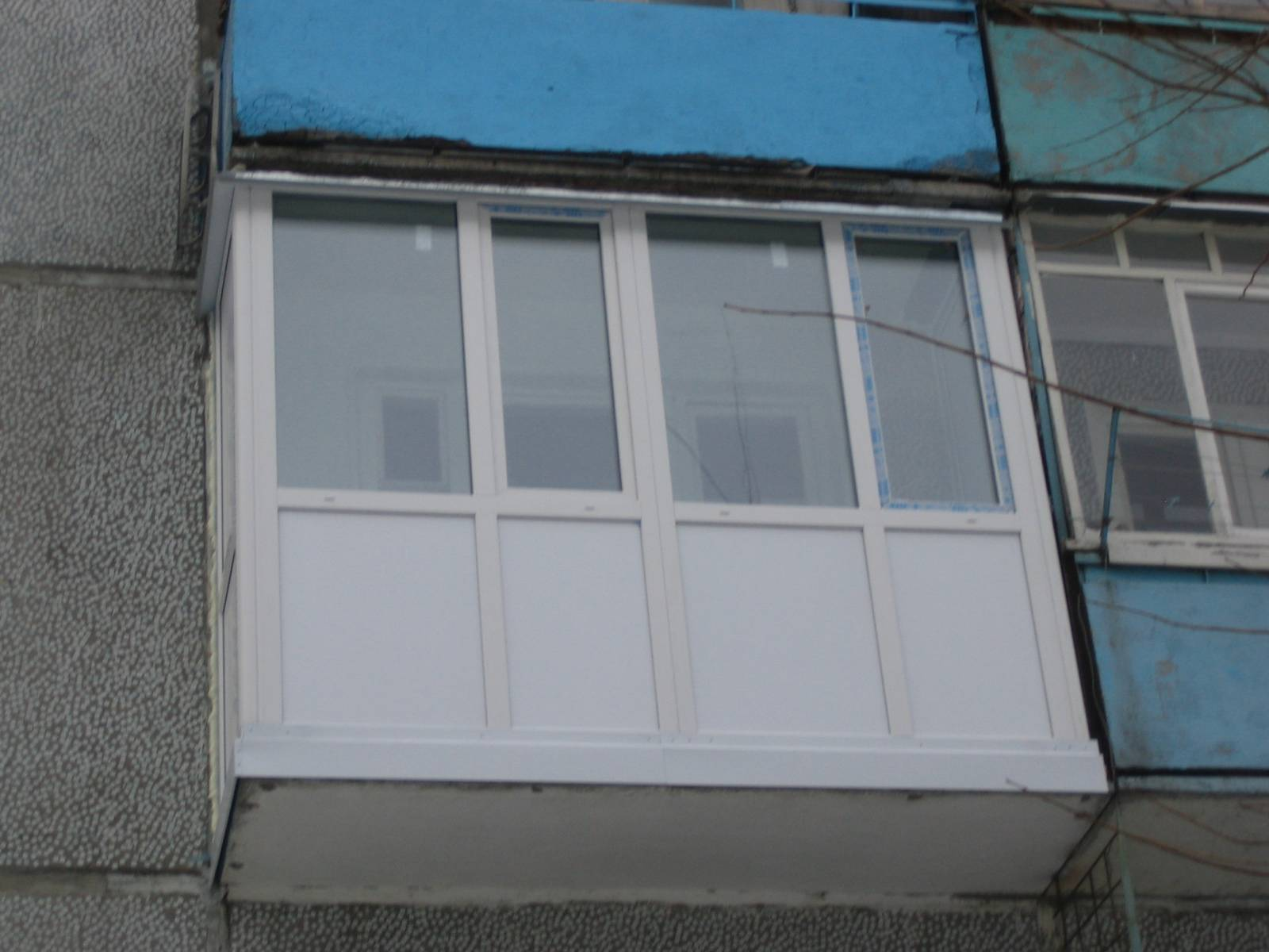 Обшивка балкона на вынос в хрущевке..